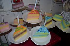 Birthday Cake Slices On A Plate!  Give this to your beloved one on his/her birthday!