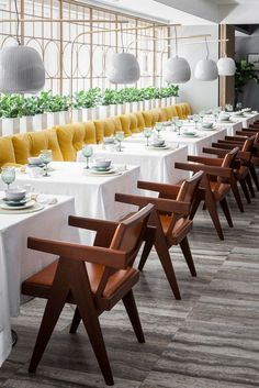 Restaurant Interior With Secluded Garden In Hong Kong By Ilse Crawford