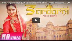 "Watch:""Sardarni"" latest punjabi song video by ""Preet Thind"":-"