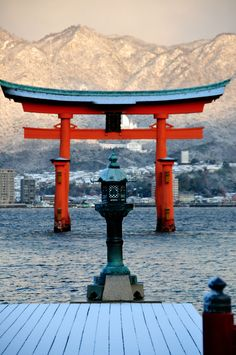 Itsukushima Shrine Otorii Gate in the swow  From: 朧月象ヲ也 Oboro Tsukiyou o Nari