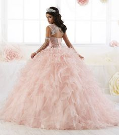 d671a00655 Sleeveless Ruffled Quinceanera Dress by House of Wu 26901
