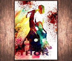 Hey, I found this really awesome Etsy listing at https://www.etsy.com/listing/211363141/superhero-wall-art-thor-a3-the-avengers
