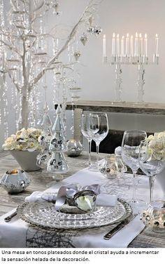 Más blanco en decoración navideña, para unos espolvoreados polvorones navideños... tambien en www.elrincondelaempanadagallega.com