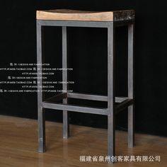 #American #loft #Hebei #Iron #wood #bar #stools #retro #bar #creative #leisure #chair #highchair #barstool #chair #coffee