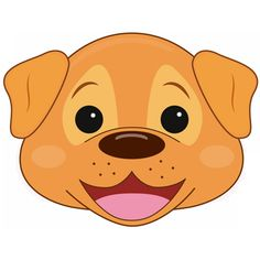 1000 images about de boerderij on pinterest dieren for Dog mask template for kids