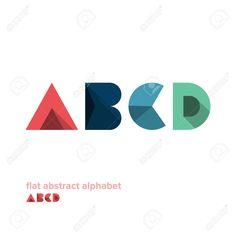 Moderno Simple Del Alfabeto Colorido Abstracto - Diseño Plano - Ilustración Vectorial - Diseño Web - Publicidad Element Ilustraciones Vectoriales, Clip Art Vectorizado Libre De Derechos. Image 24393916.