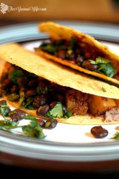 Potato and Chorizo Tacos - The Gracious Wife