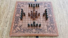 Hnefatafl Board Viking Chess Tafl King's by FIREHEARTDesignsMD, $125.00