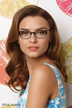 """Lilly Pulitzer Eyewear the """"Alanis"""" New Glasses, Girls With Glasses, Fashion Eye Glasses, Florida Girl, Womens Glasses, All About Fashion, Looking For Women, Juicy Couture, Her Hair"""
