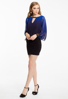 OMBRE BLOUSON DRESS #shortdress #dresses #fashion #camillelavie #groupusa