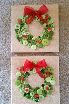 Button Christmas Wreath Craft – Medi Idea