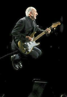 Pete Townshend of The Who Airborne