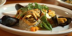 Lemongrass and Coconut Mussels on Basmati Rice