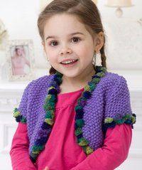 Girl's Seed Stitch Bolero