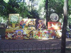 pintura na praça