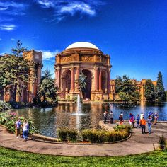 The Palace of Fine Arts in San Francisco.