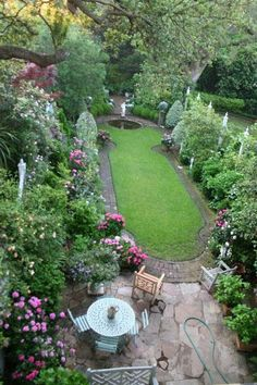 Emily Whaley's garden in Charleston. Her book is good too. Shows what you can do with a relatively small city yard. More