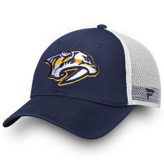new arrival d1761 53fff Men s Nashville Predators Fanatics Branded Navy Core Trucker II Snapback Adjustable  Hat, Your Price   19.99