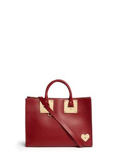 f256523d72 SOPHIE HULME  Albion  Large Heart Plate Soft Leather Tote.  sophiehulme   bags  canvas  tote  leather  lining  shoulder bags  hand bags