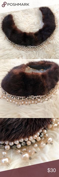 Selling this Vintage Mink Fur Collar on Poshmark! My username is: howlingdi. #shopmycloset #poshmark #fashion #shopping #style #forsale #Vintage #Accessories