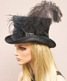 Sombrero Formal las mujeres negro sombrero sombrero por AwardDesign