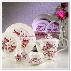 Kütahya Porselen Bone China 44 Parça Kahvaltı Takımı Coffee Break, Red Velvet, Tea Cups, Tableware, Diy Kitchen Appliances, Dinnerware, Tablewares, Dishes, Coffee Time