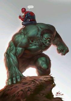 Hulk and spiderman