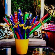 Ninja swords for Ninjago Birthday
