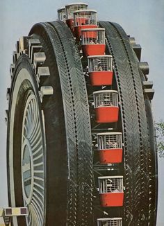 Uniroyal ferris wheel. via PURE DETROIT. I love driving past it on the highway. It has been converted, minus the ferris wheel.
