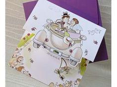 Invitación de boda 33509 #bodastyle.com #invitaciondeboda #bodainvitaciones #invitacioncomico