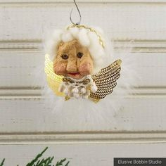 Your place to buy and sell all things handmade Apple Head Dolls, Apple Dolls, Real Granny, Golden Wings, Christmas Angel Ornaments, Sheep Wool, Mother Nature, Carving, Awesome