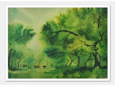 The Lush Greenery - Art Print  Available on Tadpole Store