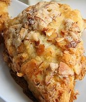 You will love these homemade almond scones from scratch. Toasted ground almonds, pure almond extract and sliced almonds on top. Serve with lots Breakfast Scones, What's For Breakfast, Breakfast Dishes, Breakfast Recipes, Brunch Recipes, Sweet Recipes, Dessert Recipes, Baking Recipes, Scone Recipes