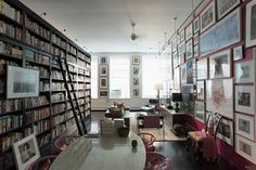 Hanya Yanagihara's apartment (with enough shelves to fit 12,000 books)