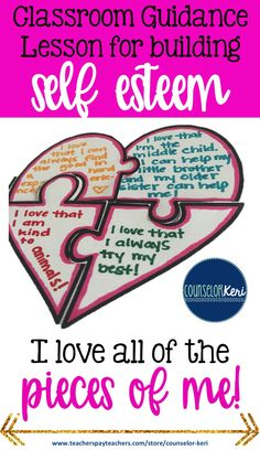 Valentine's Day self-esteem classroom guidance lesson for elementary school counseling - Counselor Keri