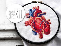 Point de croix Kit point de croix métier de coeur moderne HALLOWEEN cadeau Kit DIY set cross stitch patterns aiguille de fil de broderie cerceau Aida