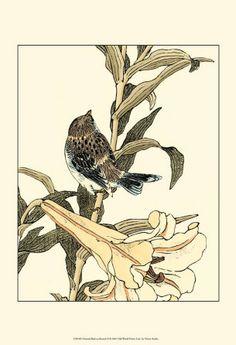 oriental tree branch and bird art