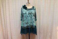 Plus size shabby tunic Lagenlook women blouse  by MilaLem on Etsy