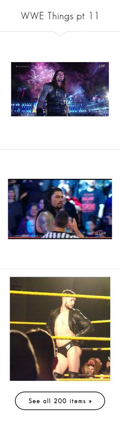 """""""WWE Things pt 11"""" by nikki-usmc92 ❤ liked on Polyvore featuring home, home decor, wwe, dean ambrose, the shield, pictures, roman, people, wwe stars and roman reigns"""