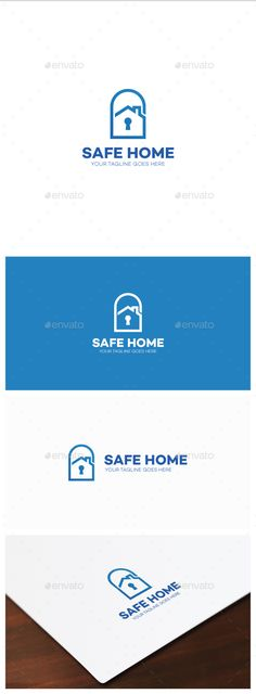 Safe Home Logo by Dantenoid This simple logo is nice combination of house and padlock and, for instance, it can be used by security or rent insurance companie