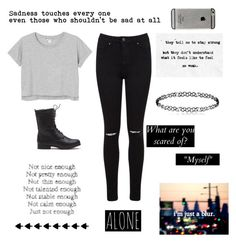 """""""[not enough]"""" by mariafe1231 ❤ liked on Polyvore featuring Monki, Miss Selfridge and injury"""