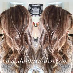 Beach blonde balayage highlights melting into ombrè. Hair by Danni in Denver, CO - Color for Stormy?