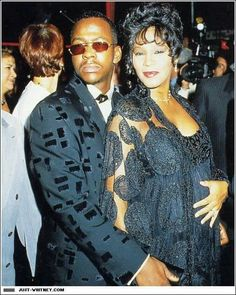 Beauty at its  best...Whitney Houston in Marc Bouwer dress and jacket