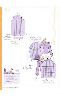 Costura,Patrones y mucho mas: Libro de Oro Hermenegildo Sewing Tutorials, Sewing Projects, Clothing Patterns, Sewing Patterns, Pekinese, Baroque Fashion, Fashion Sewing, Sleeve Designs, Sewing Clothes
