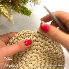 Crochet Round, Diy Crochet, Crochet Crafts, Hand Crochet, Crochet Projects, Beginner Crochet, Spiral Crochet, Crochet Home, Crochet Patterns For Beginners