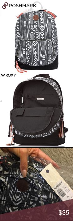 """Roxy Backpack Roxy brand new backpack. Still in original packaging. Approx. 15"""" x 11"""". Roxy Bags Backpacks"""