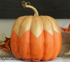 Anyone Can Decorate: Pumpkin Painting - Fall Decorating Ideas