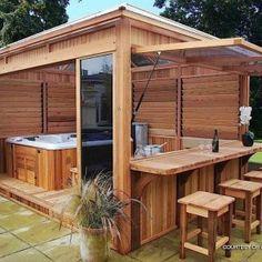 hot tub enclosure plans - Google Search