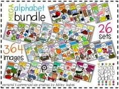 Great Bundle by Ashley Hughes found on TPT! So much you can make and do with the images!!!