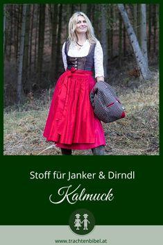 Von den Kalmücken nach Österreich gebracht und von den Flößern an der Donau übernommen, ist Kalmuck heute ein wesentlicher Teil der Wachauer Winzertracht und wird auch für Dirndln in der Gegend verwendet. #dirndltipp German Fashion, Victorian, Inspiration, Dresses, Black Cropped Trousers, Work Attire, Vest, Chic, Biblical Inspiration